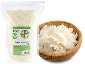 CHIPSY KOKOSOWE 500g, NATURALNE  - MIGOgroup
